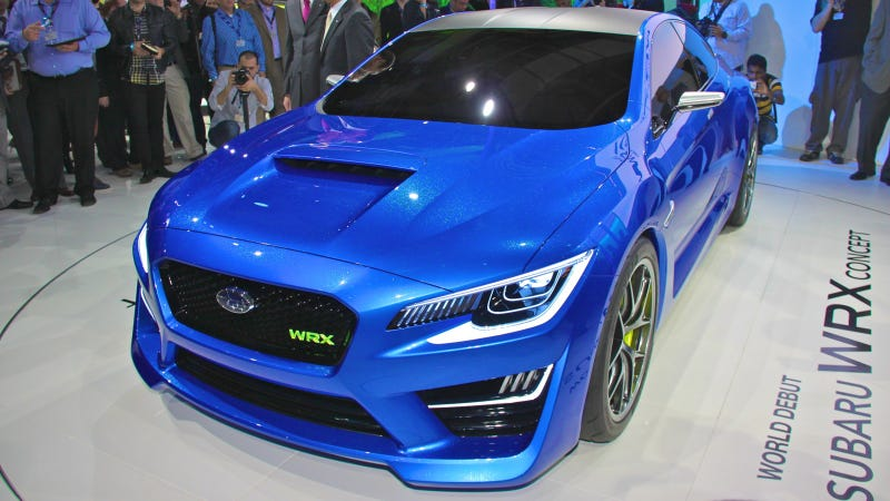 Illustration for article titled The Subaru WRX Concept Is So Hot It Will Melt Your Eyeballs