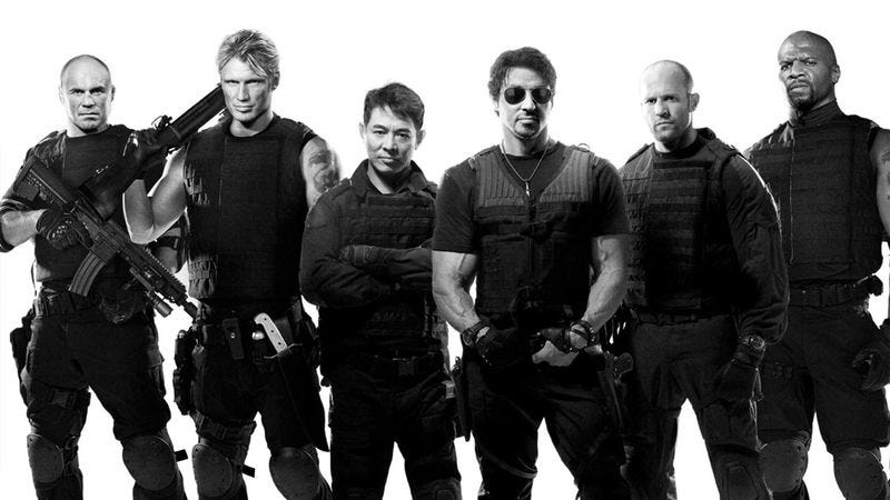 Illustration for article titled 'Expendables 3' Cast Requests To Be Paid In Steroids, Meat