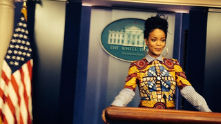 Illustration for article titled Rihanna Visits the White House, Olivia Popes the Hell Out