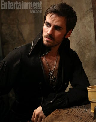 Illustration for article titled Pirate Porn Star, or first image of Once Upon A Time's Captain Hook?