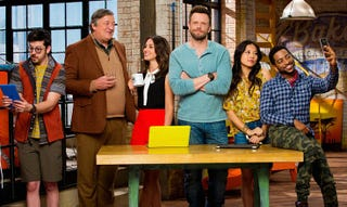Cast of one of CBS' new fall TV shows, The Great IndoorsCBS/Great Indoors
