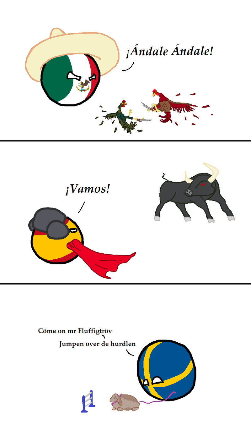 Illustration for article titled Nightly Polandball: National Animal Sports