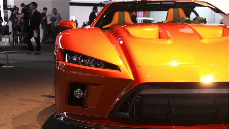 Illustration for article titled Falcon F7: If Ferrari Made Love To The Detroit Auto Show