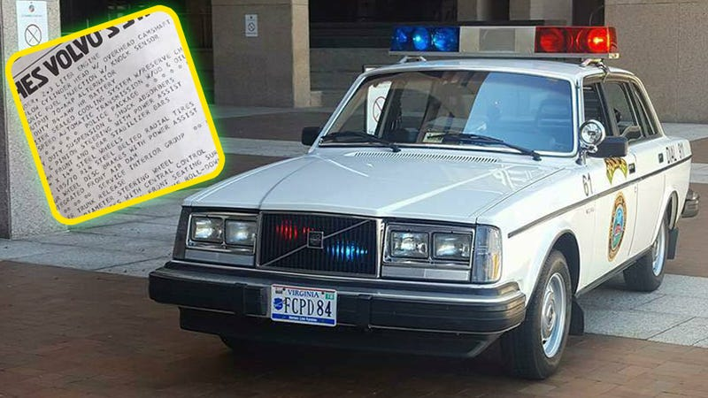 This Volvo Has To Be America's Fanciest Cop Car
