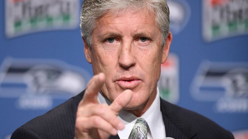 Illustration for article titled Seattle Coach Pete Carroll: Seahawks Only Need 3 Losses To Reach Super Bowl
