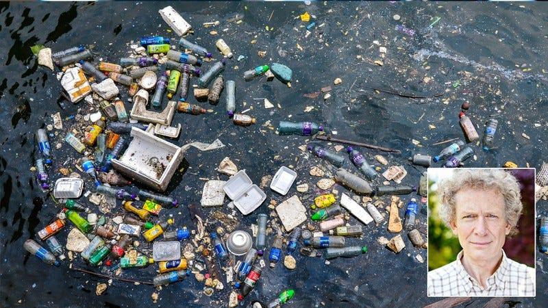 Garbage in the ocean.