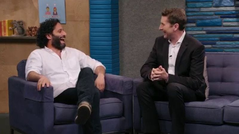 Jason Mantzoukas (left), Scott Aukerman
