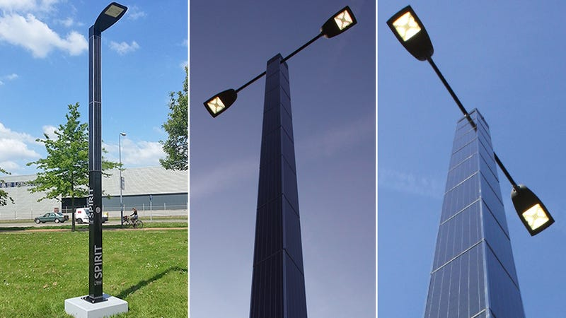 Illustration for article titled Self-Contained Solar-Powered Streetlights Stay Completely Off the Grid