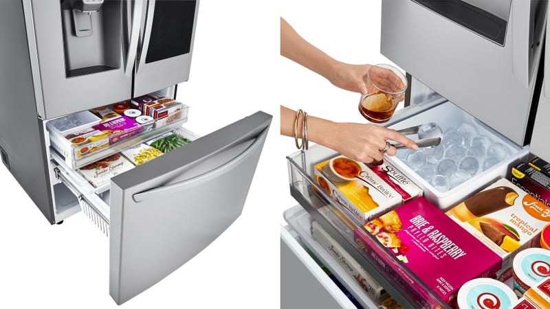Illustration for article titled LG Wants You to Replace Your $10 Ice Sphere Tray With a $4,400 Fridge