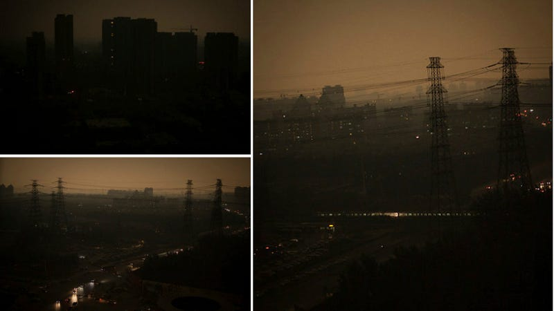 Illustration for article titled Beijing's Nasty Smog Problem Reportedly Makes Noon Look Like Night