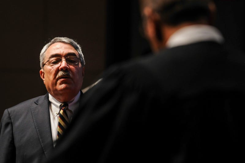 Congressional Black Caucus Chairman G.K. Butterfield (D-N.C.) is sworn in by Judge James A. Wynn Jr. of the U.S. Court of Appeals for the 4th Circuit during the Congressional Black Caucus swearing-in ceremony at the U.S. Capitol in Washington, D.C., on Jan. 6, 2015.Gabriella Demczuk/Getty Images