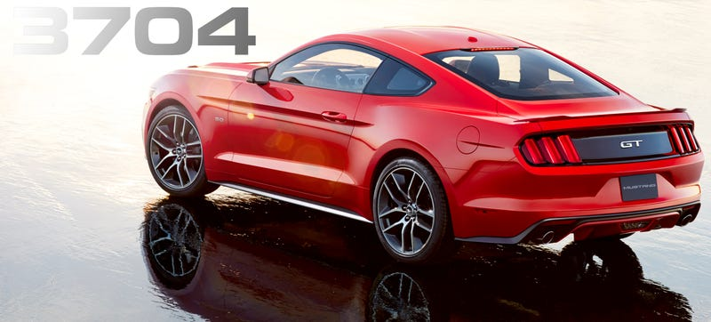 Illustration for article titled The 2015 Mustang Gains Less Than A Hundred Pounds