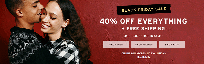 40% off everything with code HOLIDAY40