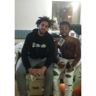 J. Cole and Tae StackhouseFacebook