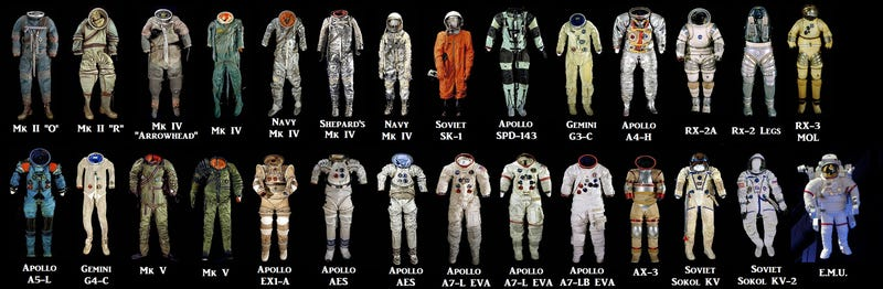 Illustration for article titled A Complete Illustrated Timeline Of Spacesuit Design