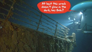 Illustration for article titled Hunt for Titanic Was Cover for Secret Sunken Nuke Sub Dives