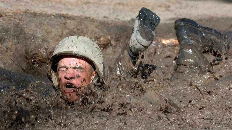 This is regular mud. Keep your face out of quicksand.