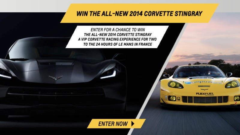 Illustration for article titled Does This Contest Reveal The Price Of The 2014 Corvette Stingray?
