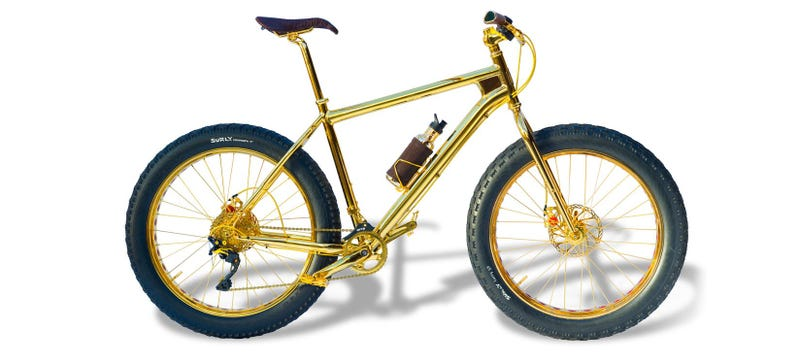 Illustration for article titled This Gold-Plated Bike Is Real and Costs $1,000,000