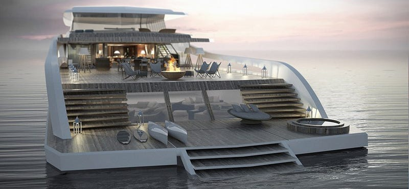 Illustration for article titled The Obscenely Extravagant Beach House Yacht You Can't Afford