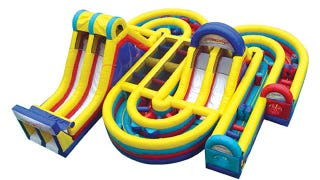 Illustration for article titled Epic Inflatable Obstacle Course Puts Bounce Houses To Shame