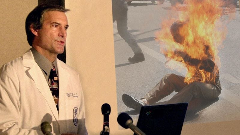 Illustration for article titled American Medical Association Changes Stance On Self-Immolation