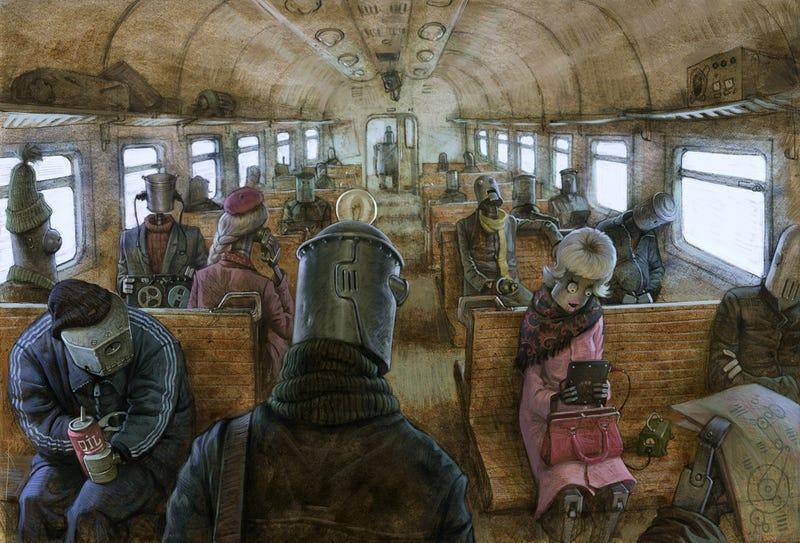 Illustration for article titled Public transportation looks the same even after the robot uprising