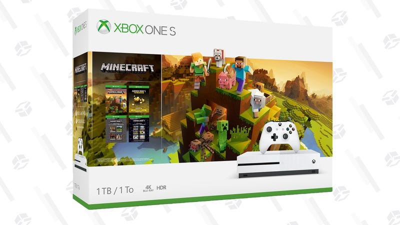 Xbox One S 1TB Minecraft Creators Bundle | $199 | Walmart | Possible $10 off with code ELLEN10 (new accounts only)