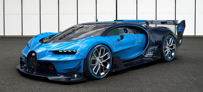 Illustration for article titled Bugatti Vision Gran Turismo Concept: The Future Of Bugatti Looks Terrifyingly Awesome