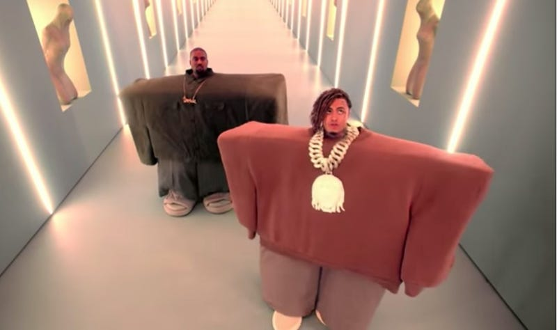 Illustration for article titled Kanye West teams up with Lil Pump and Spike Jonze for bizarre new video