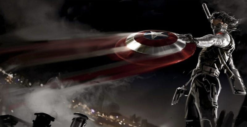 Illustration for article titled New Captain America concept art shows the Winter Soldier in action