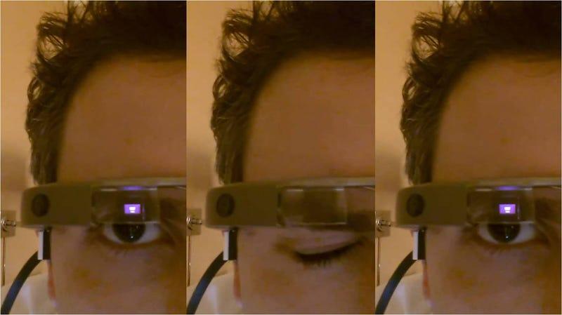 Illustration for article titled Sí, podremos hacer fotos con Google Glass guiñando un ojo