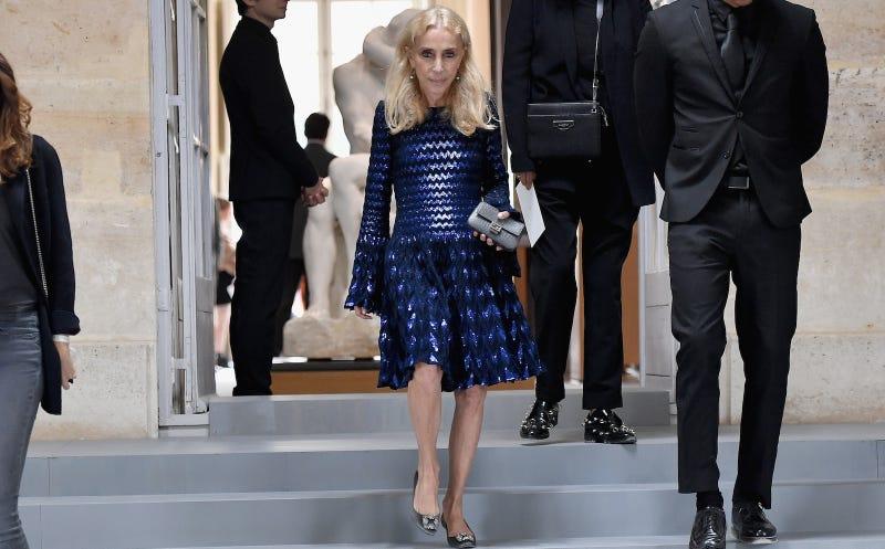 Sozzani at Paris Fashion Week this past September. Image via Getty.