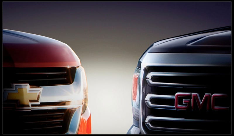 Illustration for article titled 2015 GMC Canyon And 2015 Chevy Colorado: Here Are Their Grilles
