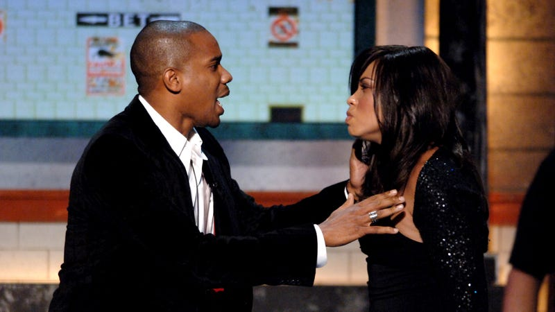 Duane Martin and Tisha Campbell-Martin present Outstanding Theatrical Film at the 2005 BET Comedy Awards
