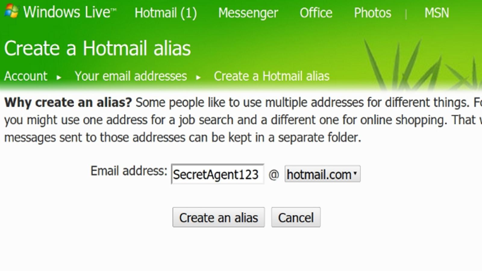 how to create alias gmail