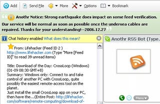 Add RSS feeds to Skype with Anothr com