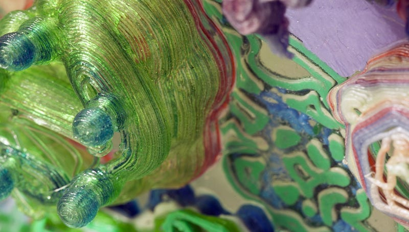 These Intricate Abstract Paintings Were Made With A 3d Printer