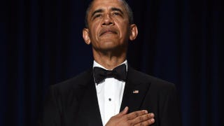 President Barack Obama attends the White House Correspondents Association Dinner on May 3, 2014 in Washington, DC.JEWEL SAMAD/AFP/Getty Images
