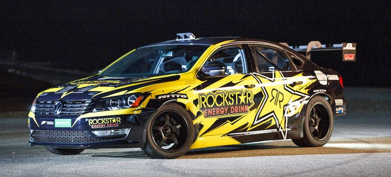 Illustration for article titled Tanner Foust's 900 HP V8 Formula Drift Passat Is The Sickest Passat Ever