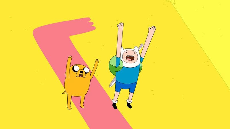 Illustration for article titled Finn and Jake mess with the multiverse in a striking interdimensional crossover