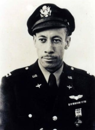 Lowell C. Steward after his graduation from flight training at Tuskegee Army Air Field in July 1943, in Tuskegee, Ala.Los Angeles Chapter, Tuskegee Airmen Inc.