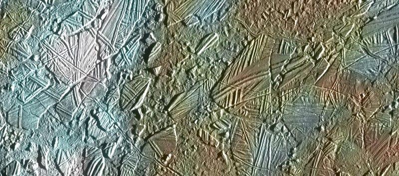 Aspecto de las estructuras de hielo en Europa.
