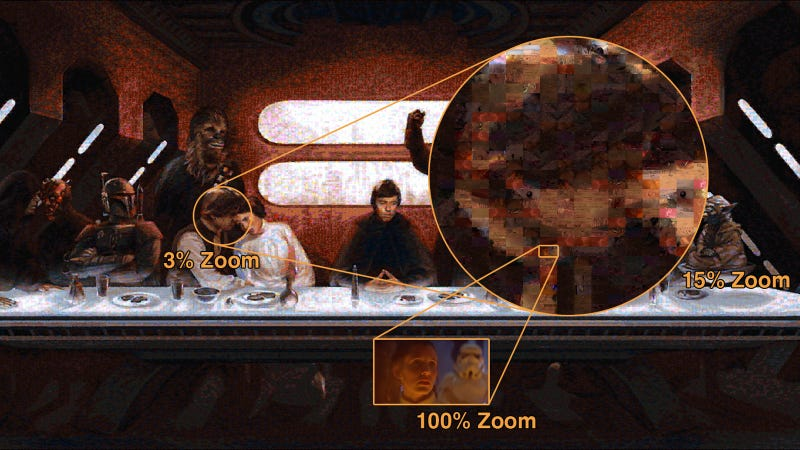 Illustration for article titled New Star Wars' Last Supper Mosaic Is Insanely Huge