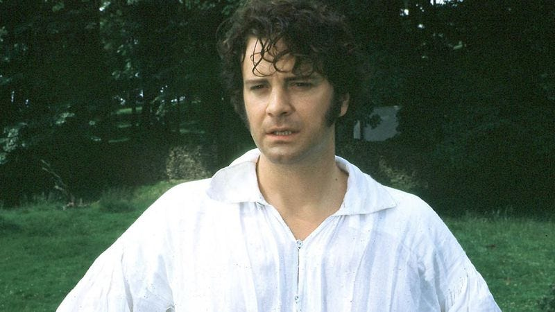 Illustration for article titled A 12-foot-high statue of Colin Firth as a wet Mr. Darcy is on display in London now