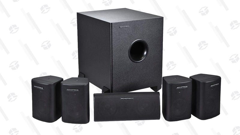 Monoprice 5.1 Channel Home Theater Satellite Speakers And Subwoofer | $68 | Amazon | Clip the $29 coupon