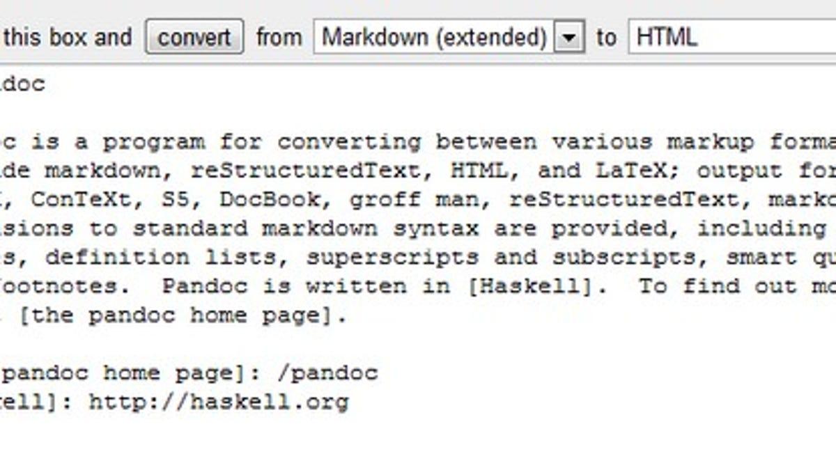 Pandoc Converts Text Documents Between Dozens of Formats