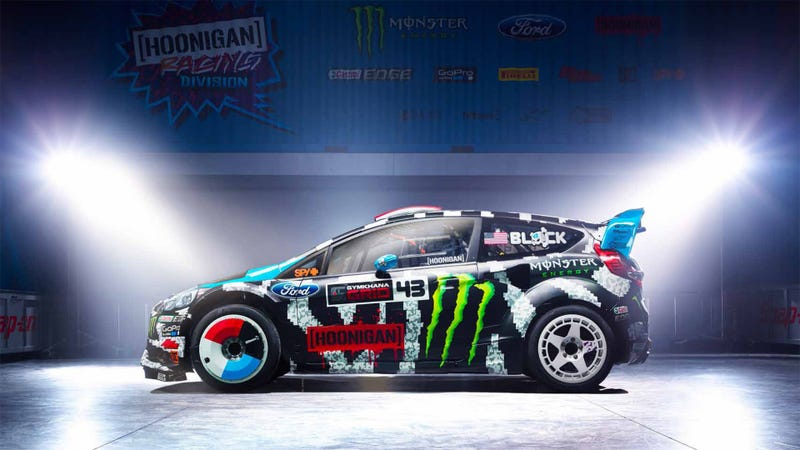Illustration for article titled This 8-Bit Paint Job Is Ken Block's New 2014 Livery