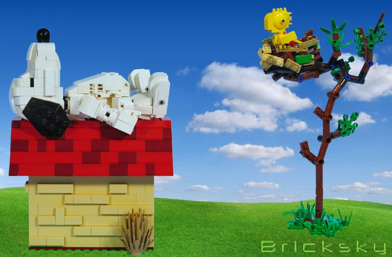 Illustration for article titled Lego Snoopy and Woodstock are best friends forever