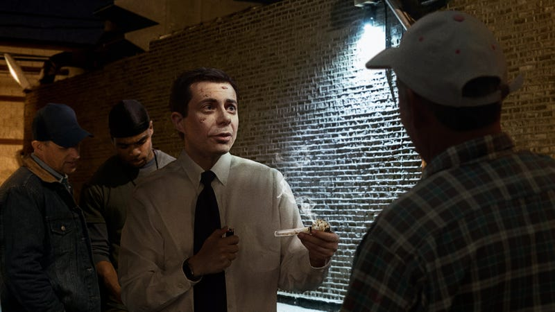Illustration for article titled Pete Buttigieg Charms Crowd At Iowa Truck Stop By Sampling Local Meth